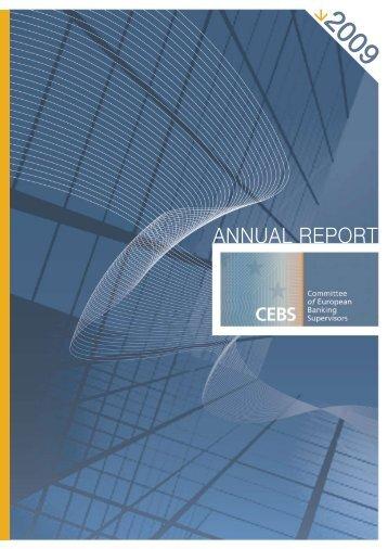 Annual Report 2009 - European Banking Authority - Europa