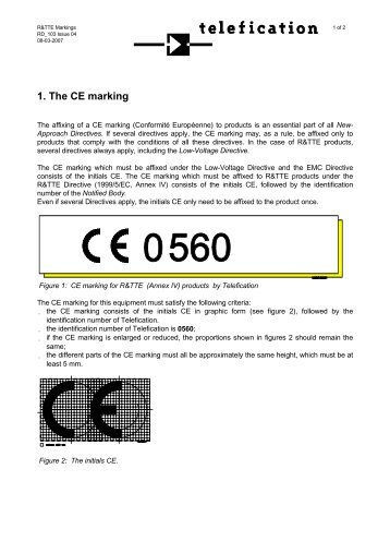 1. The CE marking - Summit Data Communications