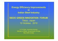 E Effi i I t Energy Efficiency Improvements in Indian Steel Industry ...