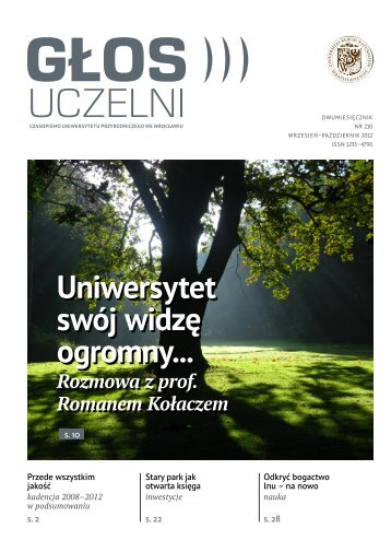 """""""Głos Uczelni"""" nr 210 - Uniwersytet Przyrodniczy we Wrocławiu"""