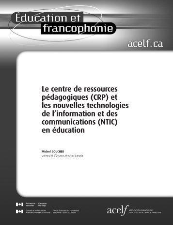 Le centre de ressources pédagogiques (CRP) - acelf