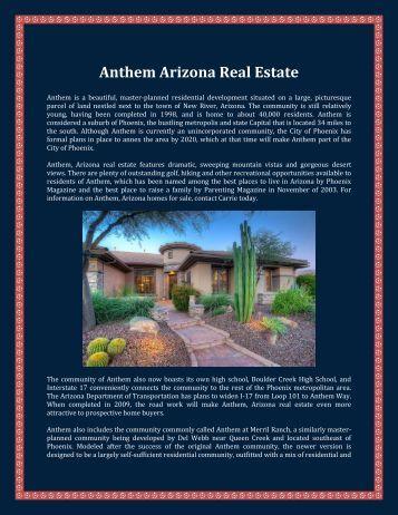 Anthem Arizona Real Estate