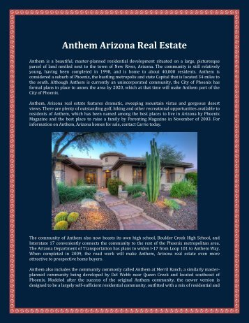 Anthem Arizona Real Estate