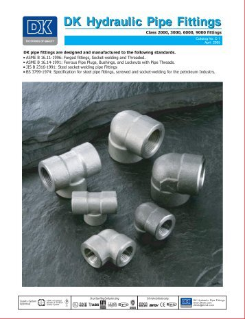 DK Hydraulic Pipe Fittings
