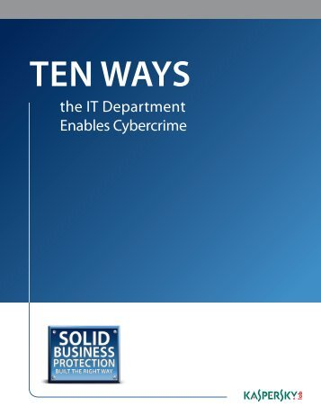 Ten Ways the IT Department Enables Cybercrime - CDW