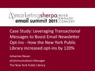 Leveraging Transactional Messages to Boost ... - MarketingSherpa