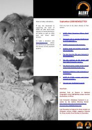 September 2009 NEWSLETTER - African Lion & Environmental ...