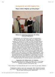 Bispevisitats, søndag den 24. april 2005 i Magleby Kirke