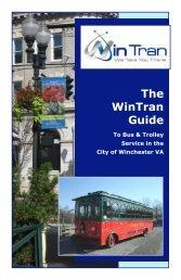 The WinTran Guide - City of Winchester, VA