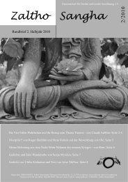 Die Vier Edlen Wahrheiten und ihr Bezug zum ... - Zaltho-Sangha