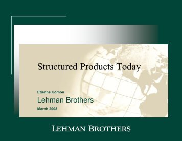 Structured Products Today - Finance Innovation