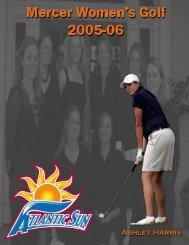 2005-06 Women's Golf Media Guide - Mercer University
