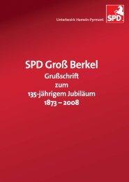 Grußschrift des Unterbezirks - SPD Hameln-Pyrmont