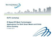 EUTC workshop IP-Based RF Mesh Technologies: Applications For ...
