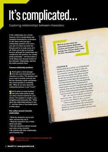 Exploring relationships between characters. - GCSE English ...