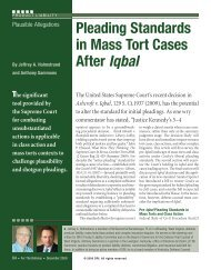 Pleading Standards in Mass Tort Cases After Iqbal - Dinsmore ...