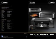 introducing the pixma pro series - Canon in South and Southeast Asia
