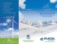 Brochure from Glacial Energy - NFMT