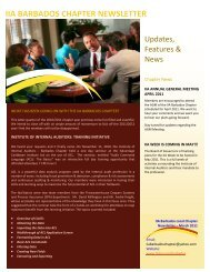 iia barbados chapter newsletter - The Institute of Internal Auditors