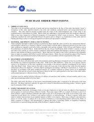 Purchase Order Provisions (BNQF-1925 Rev F) - Barber-Nichols Inc.