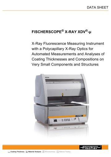 FISCHERSCOPE ® X-RAY XDV ® -µ - Labsys