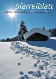 Nr. 01 vom 12. bis 25. Januar 2013 - Pfarrei-ruswil.ch