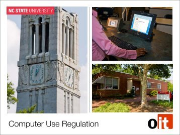 Computer Use Regulation - OIT Website - North Carolina State ...
