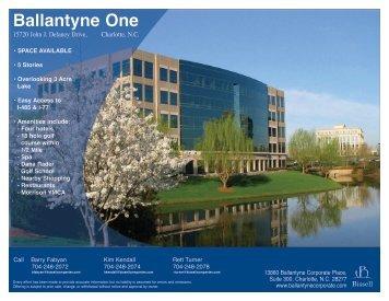 Ballantyne One Building Flyer - Ballantyne Corporate Park