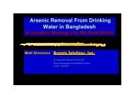 Arsenic Removal From Drinking Water in Bangladesh