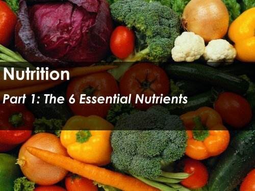 Nutrition - Science with Mr. Enns