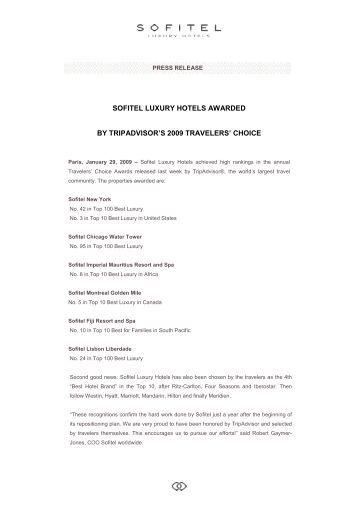 Tripadvisor Awards - US