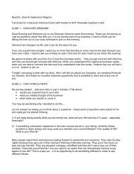 Region Notes - Full Script - Beaty Nation | Arbonne | Pure and Safe ...