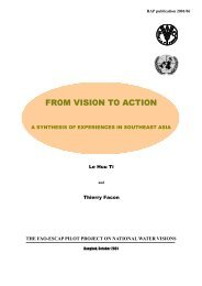 The FAO-ESCAP pilot project on national water visions. From vision ...