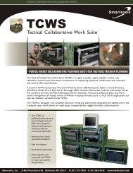 Tactical Collaborative Work Suite - Smartronix
