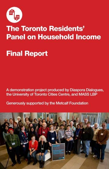 The Toronto Residents' Panel on Household Income ... - Cities Centre