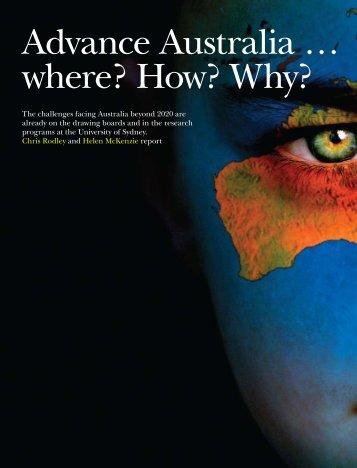 Advance Australia … where? How? Why? - The University of Sydney