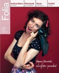 Hanna Bervoets, schrijfster/journalist - Folia Web