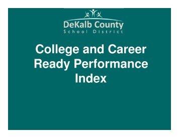 CCRPI Performance Targets - DeKalb County Schools