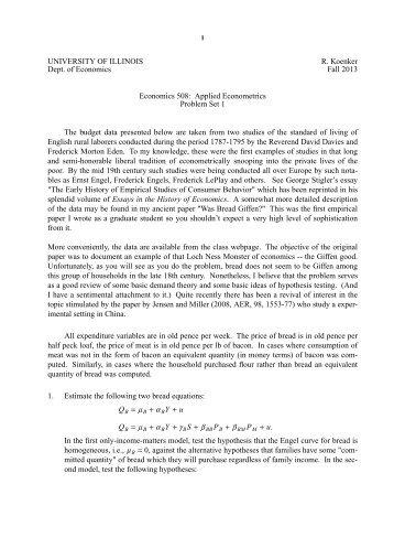 eonomics problem set 1