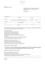 Modulo per la richiesta di inserimento nelle graduatorie per l ...