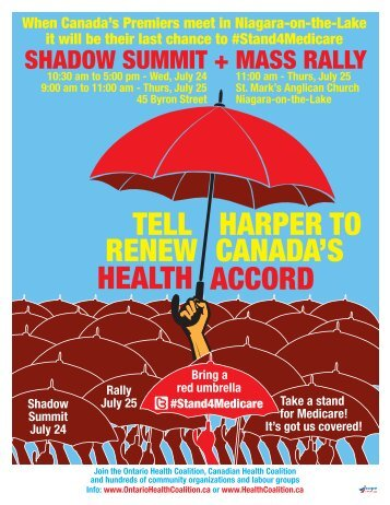 to download the Rally poster and more information - CUPE Ontario