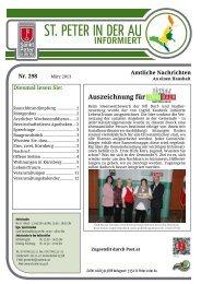 Infoblatt Nr. 298 März 2013 - in St. Peter in der Au
