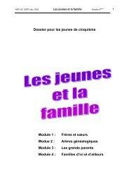 Dossier pour les jeunes de cinquième Module 1 : Frères et ... - Balises