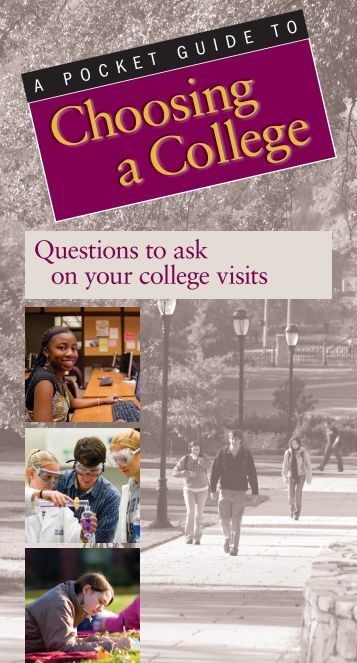 Choosing a College - NSSE