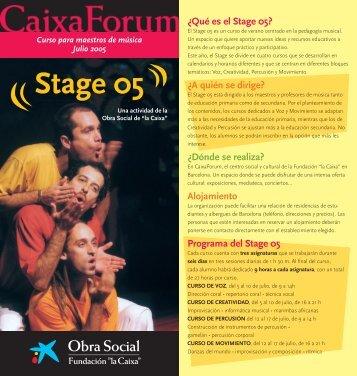 """Stage 05 - Obra Social """"la Caixa"""""""
