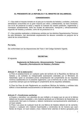 D-6 Reglamento para elaboración, almacenamiento, transporte ...