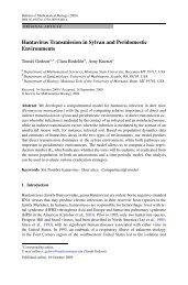 Hantavirus Transmission in Sylvan and Peridomestic Environments