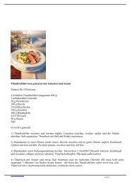 Thunfischfilet rosa gebraten mit Limetten und Sesam Zutaten für 4 ...