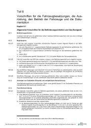 Teil 8 Vorschriften für die Fahrzeugbesatzungen, die Aus- rüstung ...
