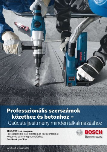 Professzionális kék elektromos kéziszerszámok Kőzet - Bosch